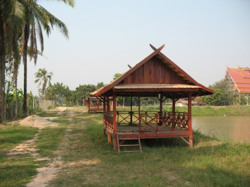 Relaxing Laos gazebo.