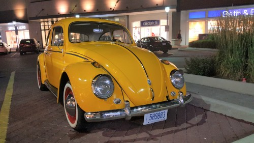 Classic Volkswagen Beetle with whitewall tires.  Note: If you use for your project, please remove the license plate.