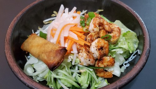 If you are looking for a light tasty dish then this Vietnamese vermicelli noodles with shrimp and spring rolls bowl is for you. Simply to make, healthy and most important it's delicious.