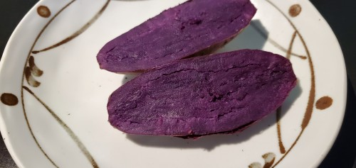 Tired of eating the same old potato then try some purple sweet potato.