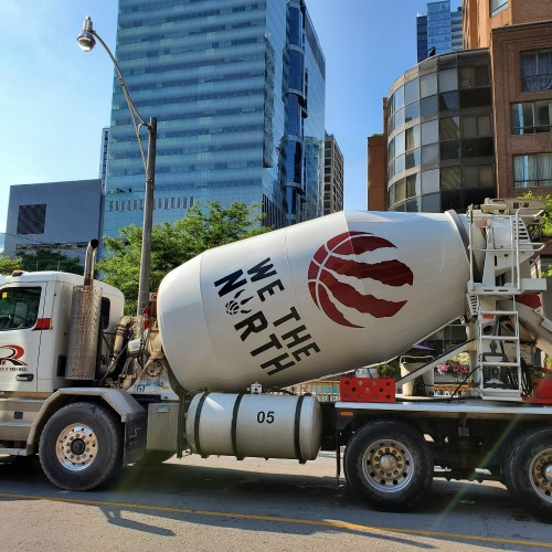 Basketball culture in Toronto is seeping into all facets of life.  Now we got a WE THE NORTH cement truck showing pride.  Coronavirus or not, lots of ballers at Jack Goodlad Park at Kennedy Rd, Scarborough out hooping. Oh, the dedication of some of these people.